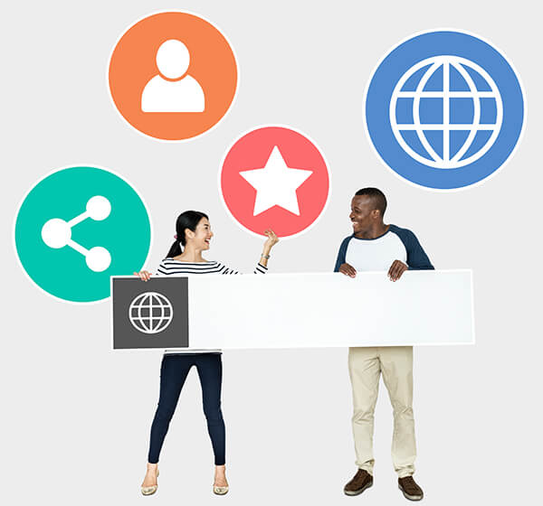 People with internet browser